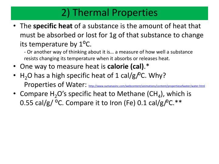 2) Thermal Properties
