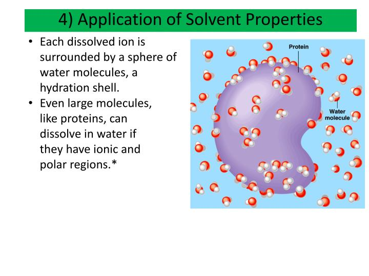 4) Application of Solvent Properties