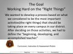 the goal working hard on the right things1
