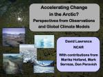 accelerating change in the arctic perspectives from observations and global climate models