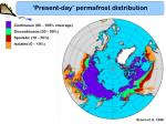 present day permafrost distribution