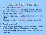 making thermometers