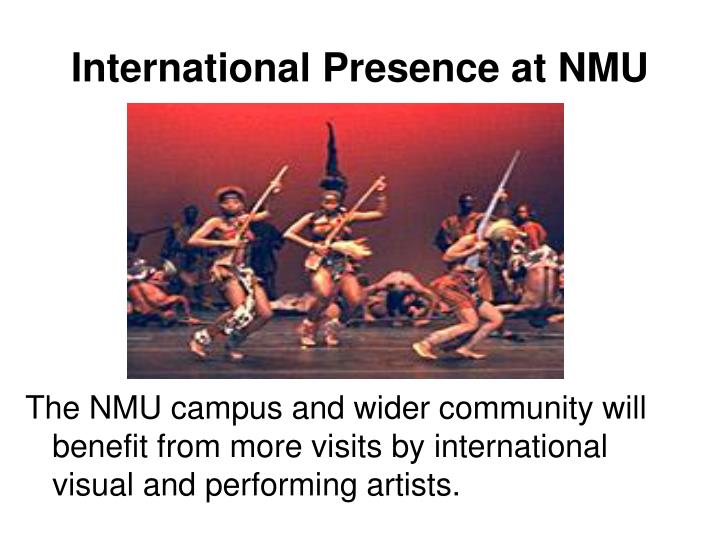 International Presence at NMU