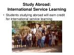 study abroad international service learning