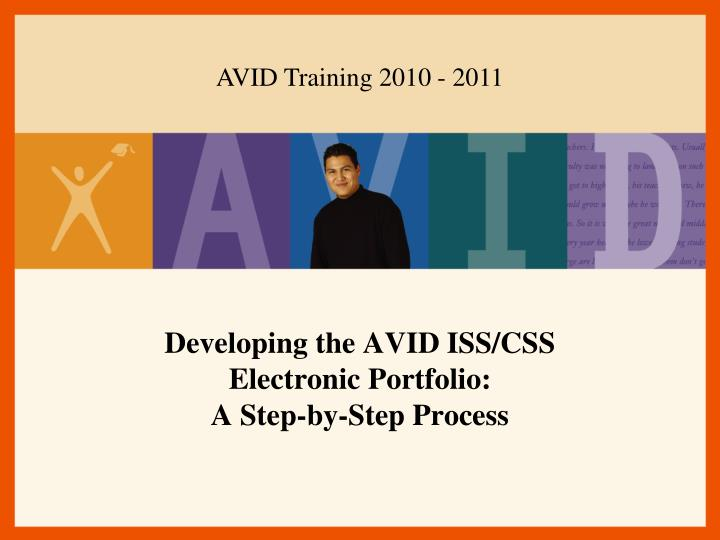 developing the avid iss css electronic portfolio a step by step process n.