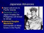 japanese advances