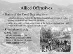 allied offensives