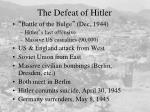 the defeat of hitler