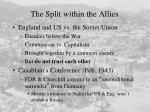 the split within the allies