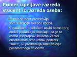 primer izpeljave razreda student iz razreda oseba