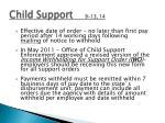 child support 9 13 14