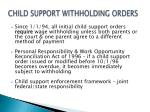 child support withholding orders