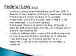 federal levy 9 8 9