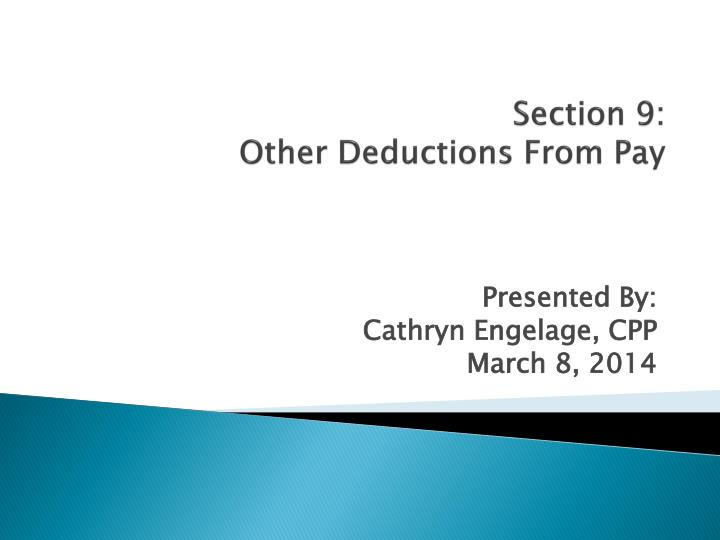 section 9 other deductions from pay n.