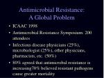 antimicrobial resistance a global problem