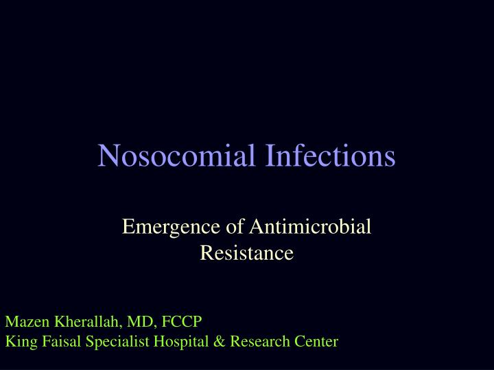nosocomial infections n.