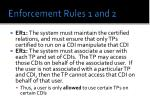 enforcement rules 1 and 2