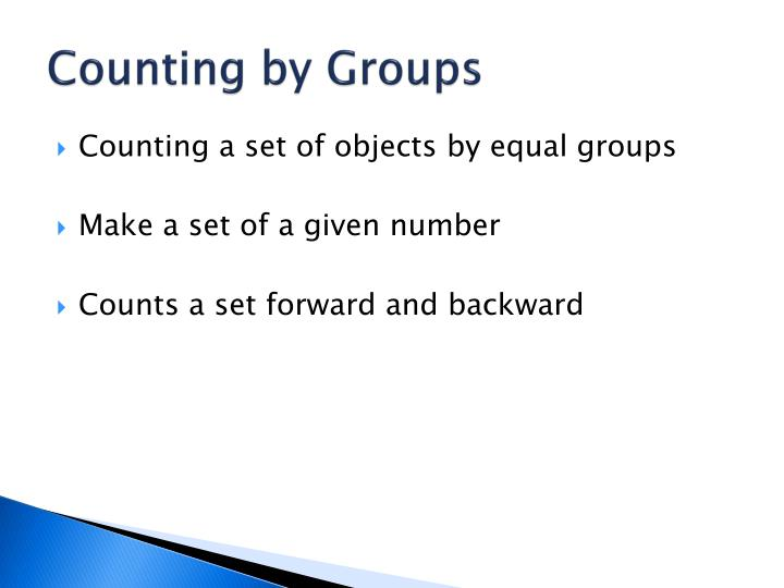 Counting by Groups