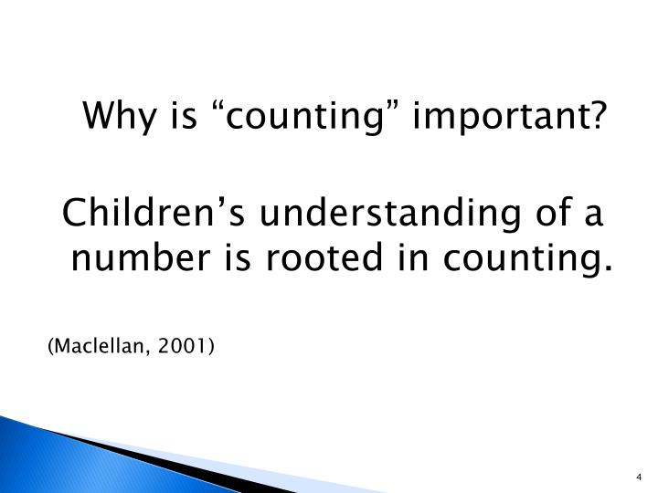 """Why is """"counting"""" important?"""