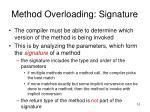 method overloading signature