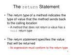 the return statement