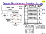 example micro sequencer operations for load