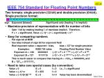 ieee 754 standard for floating point numbers