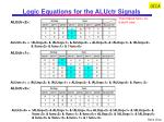 logic equations for the aluctr signals