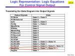 logic representation logic equations for control signal output