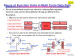 reuse of function units in multi cycle data path