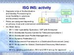 isg ins activity