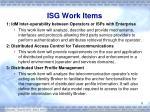 isg work items