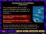 comparison of modifiers comparative1