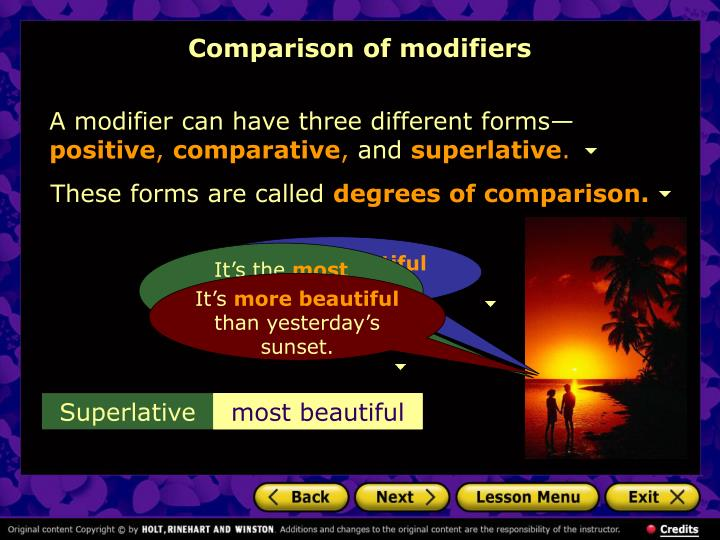 comparison of modifiers n.