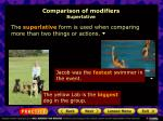 comparison of modifiers superlative
