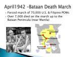 april1942 bataan death march