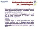 ordinamento cooperativo per i consorzi agrari