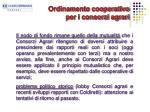 ordinamento cooperativo per i consorzi agrari1