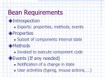 bean requirements