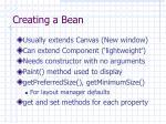 creating a bean