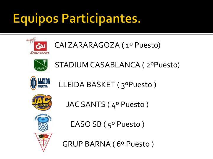 Equipos Participantes.