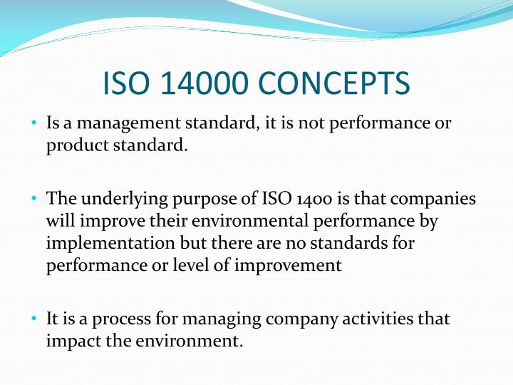 iso 14000 concepts n.