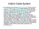 india s caste system