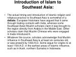introduction of islam to southeast asia