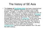 the history of se asia