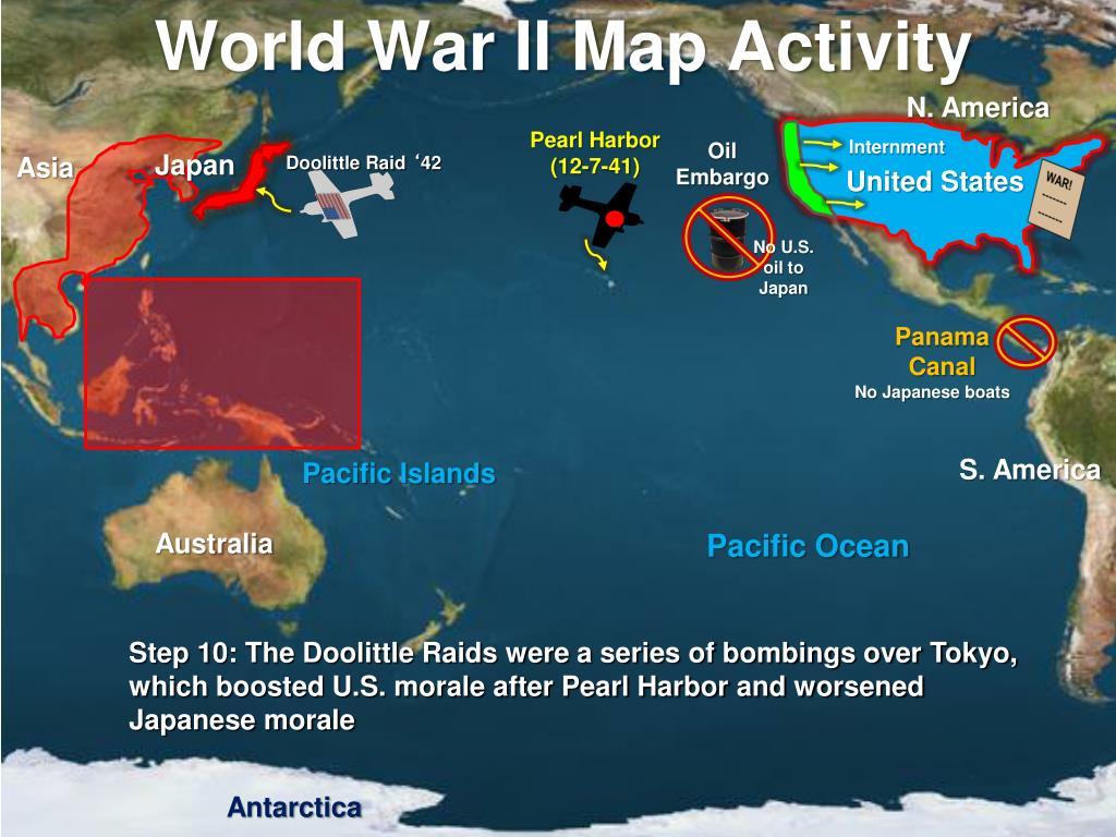 PPT - World War II PowerPoint Presentation - ID:5636006 Doolittle Raid Map on