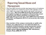 reporting sexual abuse and harassment