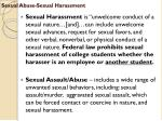 sexual abuse sexual harassment