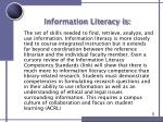 information literacy is
