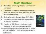 math structure